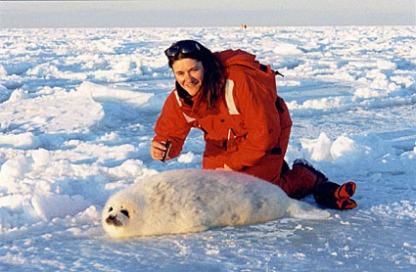 Malvina avec Sea Shepherd pour les bébés phoques