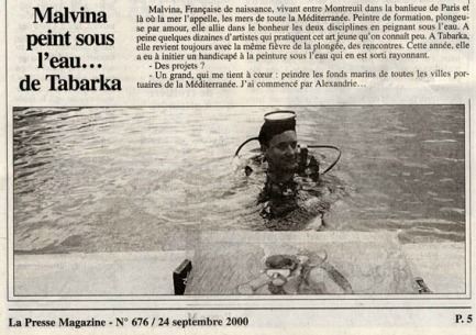 """Article dans """"La Presse Magazine"""" en 2000"""