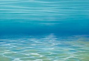 méditation - Peinture sub-aquatique de Malvina, peintre en immersion