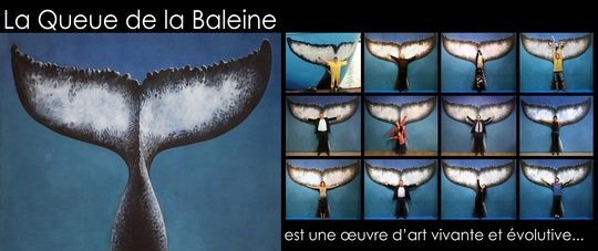 Malvina, Mise en place de la performance La Queue de la Baleine