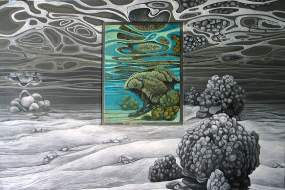 Peinture sub-aquatique de Malvina, peintre en immersion