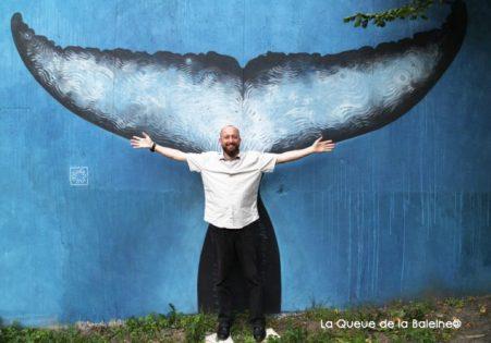 11 Peter Lenhann au 91 à Bagnolet devant La Queue de la Baleine.