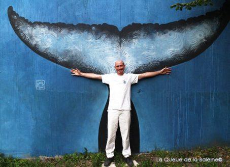 13 Christophe Pignal au 91 à Bagnolet devant La Queue de la Baleine.