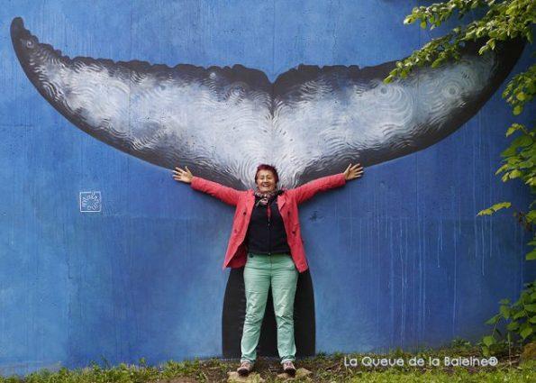 16 Chantal Laurent au 91 à Bagnolet devant La Queue de la Baleine