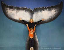 281 Christine et Noé Castets avec La Queue de la Baleine aux Portes Ouvertes des Ateliers d'Artistes de Montreuil.