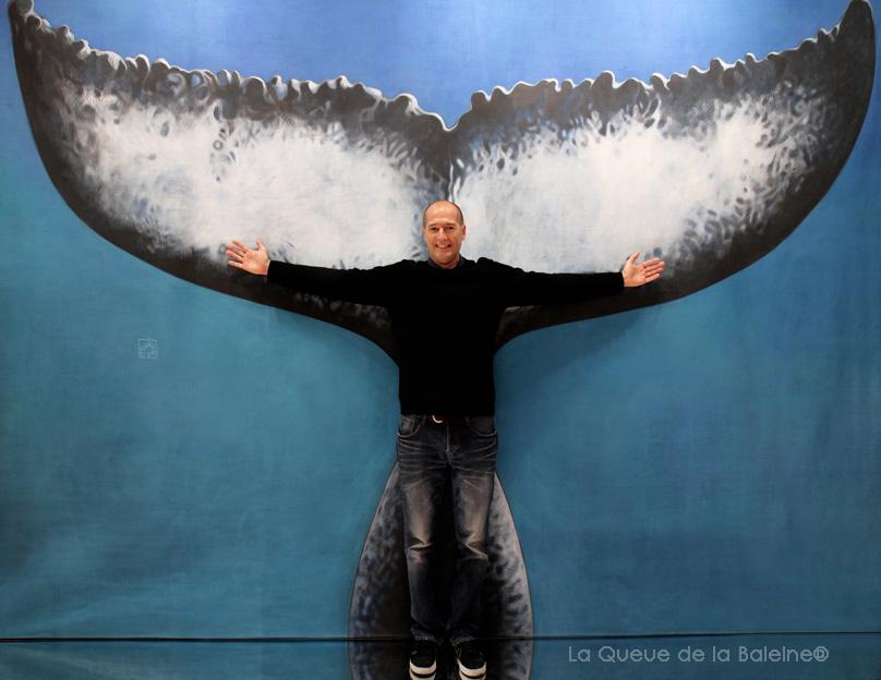 323 Cedric Lesenechal avec La Queue de la Baleine au Salon de la plongée/Paris