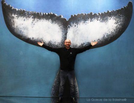 Stéphane Léal avec La Queue de la Baleine au Salon de la plongée/Paris