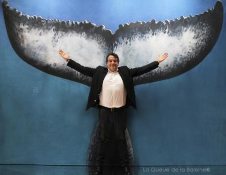 Léonard Donati avec La Queue de la Baleine au Salon de la plongée/Paris