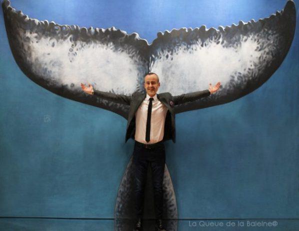 327 Christopher Sommet avec La Queue de la Baleine au Salon de la plongée/Paris