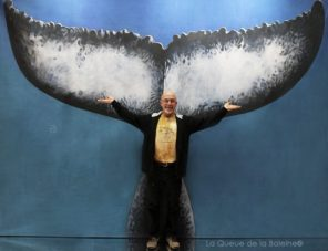 Pascal Marteau avec La Queue de la Baleine au Salon de la plongée/Paris