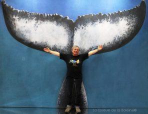 Patricia Marteau avec La Queue de la Baleine au Salon de la plongée/Paris
