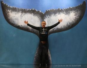 Stéphane Mifsud avec La Queue de la Baleine au Salon de la plongée/Paris