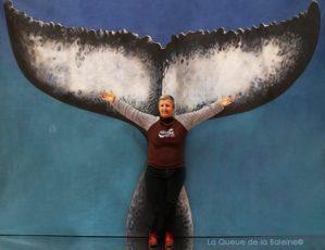 Patricia Bry avec La Queue de la Baleine au Salon de la plongée/Paris