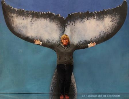 Marijo Marty avec La Queue de la Baleine au Salon de la plongée/Paris