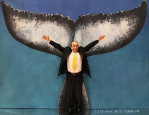 333 Abdelkader Chekroun avec La Queue de la Baleine au Salon de la plongée/Paris