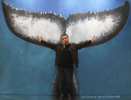 César Berquin avec La Queue de la Baleine au Salon de la plongée/Paris
