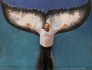 Pere Redo avec La Queue de la Baleine au Salon de la plongée/Paris
