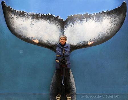 Serge Briez avec La Queue de la Baleine au Salon de la plongée/Paris