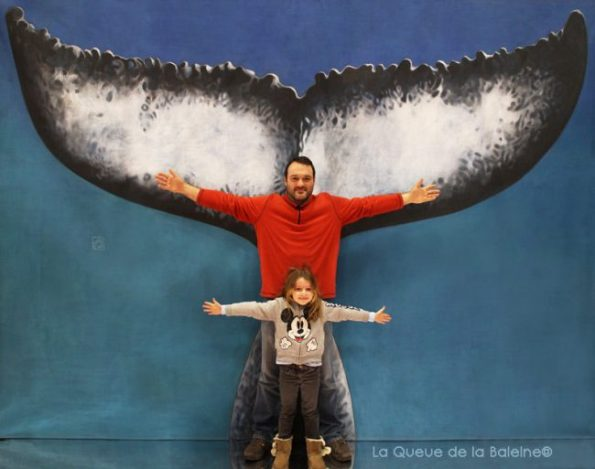 Clara et Alain Verbeke avec La Queue de la Baleine au Salon de la plongée/Paris