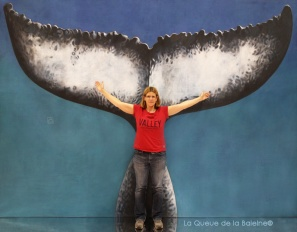 Anne Sophie Lambert avec La Queue de la Baleine au Salon de la plongée/Paris