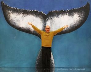 Eric Cinçon avec La Queue de la Baleine au Salon de la plongée/Paris