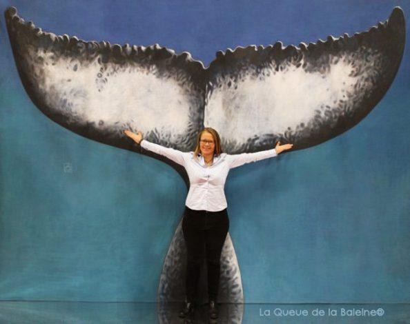 346 Emeline Rechaussat avec La Queue de la Baleine au Salon de la plongée/Paris