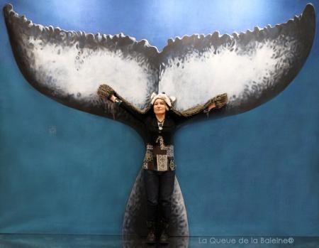 Nelly Barbey avec La Queue de la Baleine au Salon de la plongée/Paris