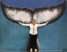 351 Ann Terrien Bichon avec La Queue de la Baleine au Salon de la plongée/Paris