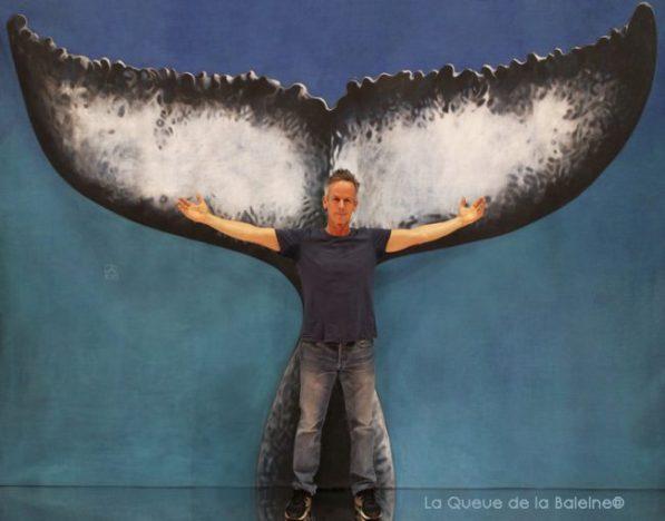 Antoine Colin de Verdière avec La Queue de la Baleine au Salon de la plongée/Paris