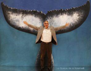 Philippe Vallette avec La Queue de la Baleine au Salon de la plongée/Paris