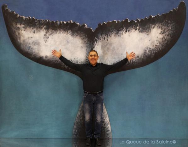 354 Dominique Esteve avec La Queue de la Baleine au Salon de la plongée/Paris