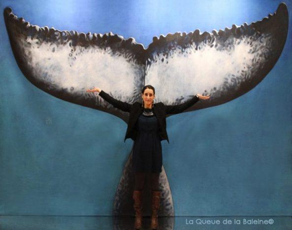 Gaëlle Chambaz avec La Queue de la Baleine au Salon de la plongée/Paris