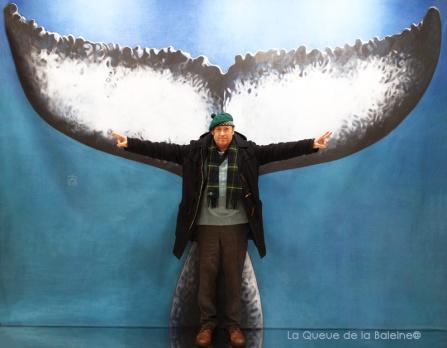 Luc Monod avec La Queue de la Baleine au Salon de la plongée/Paris