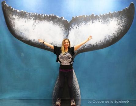 Marie Fageol avec La Queue de la Baleine au Salon de la plongée/Paris