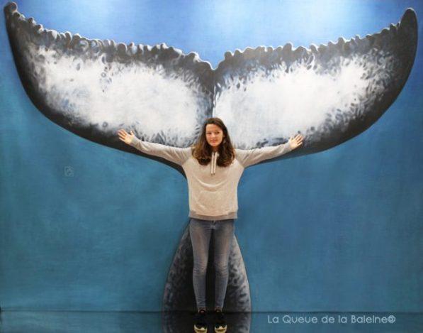 Me Gaveau avec La Queue de la Baleine au Salon de la plongée/Paris