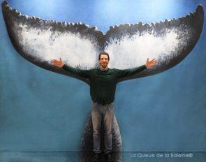 Félix Taillez avec La Queue de la Baleine au Salon de la plongée/Paris