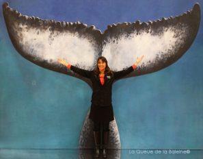 Hélène Parisse avec La Queue de la Baleine au Salon de la plongée/Paris