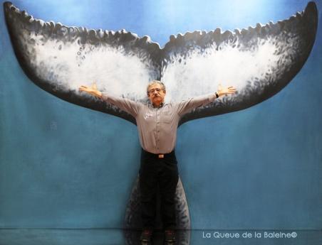 Michel Lambinet avec La Queue de la Baleine au Salon de la plongée/Paris