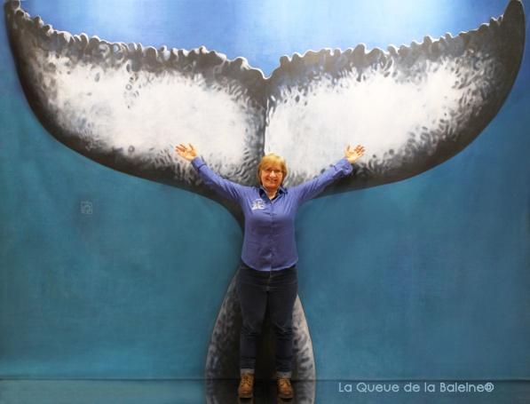 Katy Lambinet avec La Queue de la Baleine au Salon de la plongée/Paris