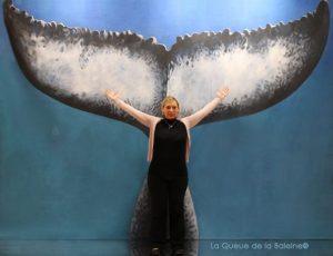 374 Ganaëlle Pasquette avec La Queue de la Baleine au Salon de la plongée/Paris