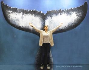 Caroline Méric avec La Queue de la Baleine au Salon de la plongée/Paris