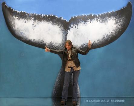 Sandra Bessudo avec La Queue de la Baleine au Salon de la plongée/Paris