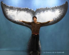 Manuel Lambinet avec La Queue de la Baleine au Salon de la plongée/Paris