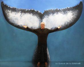 379 Jean Luc Diainville avec La Queue de la Baleine au Salon de la plongée/Paris