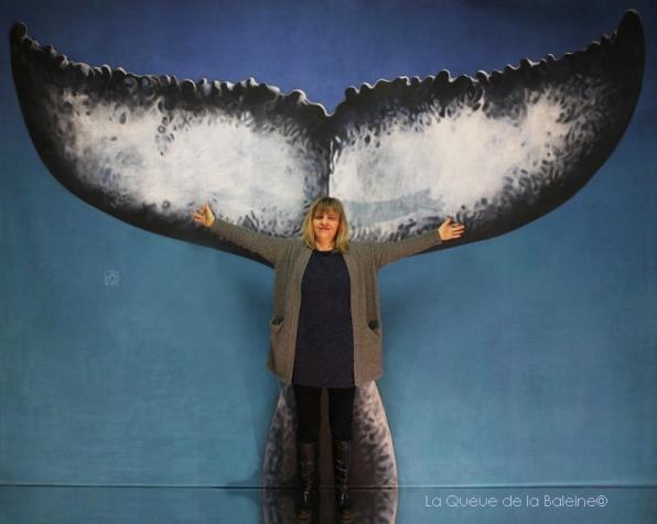sabelle Jaillet devant La Queue de la Baleine.