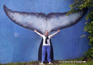 4 Michèle Sforza au 91 à Bagnoletdevant La Queue de la Baleine.
