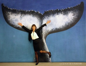 Christine Clare avec La Queue de la Baleine