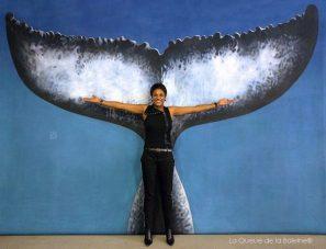 Annick Edom avec La Queue de la Baleine
