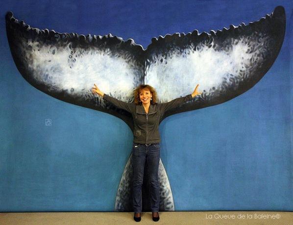 Evelyne Barlerin avec La Queue de la Baleine