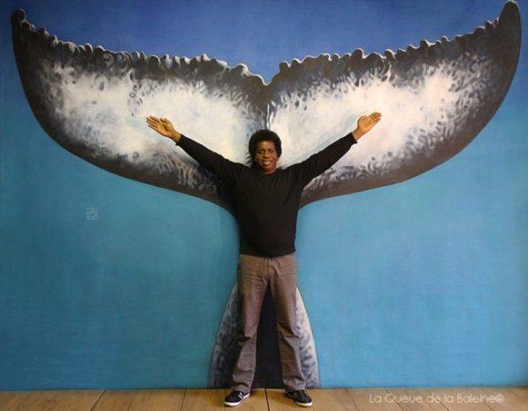 Eric Fournef devant La Queue de la Baleine.